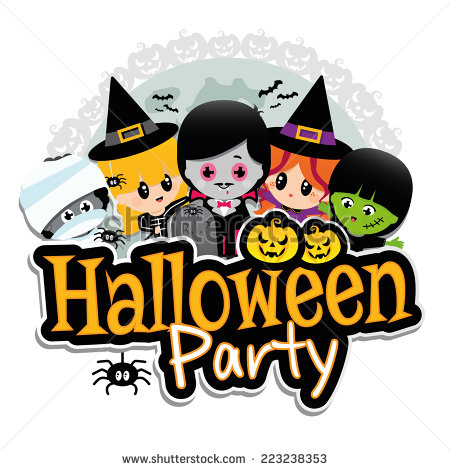 stock-vector-halloween-party-banner-on-a-white-background-with-children-dressed-in-costumes-as-dracula-vampire-223238353